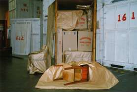 Who would be at risk at loss if a package is damaged during shipping?